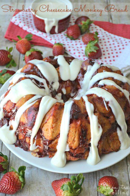 Strawberry Cheesecake Monkey Bread by Lemon Tree Dwelling