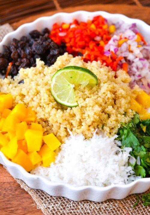 Mango Coconut Quinoa Salad | Layers of Happiness