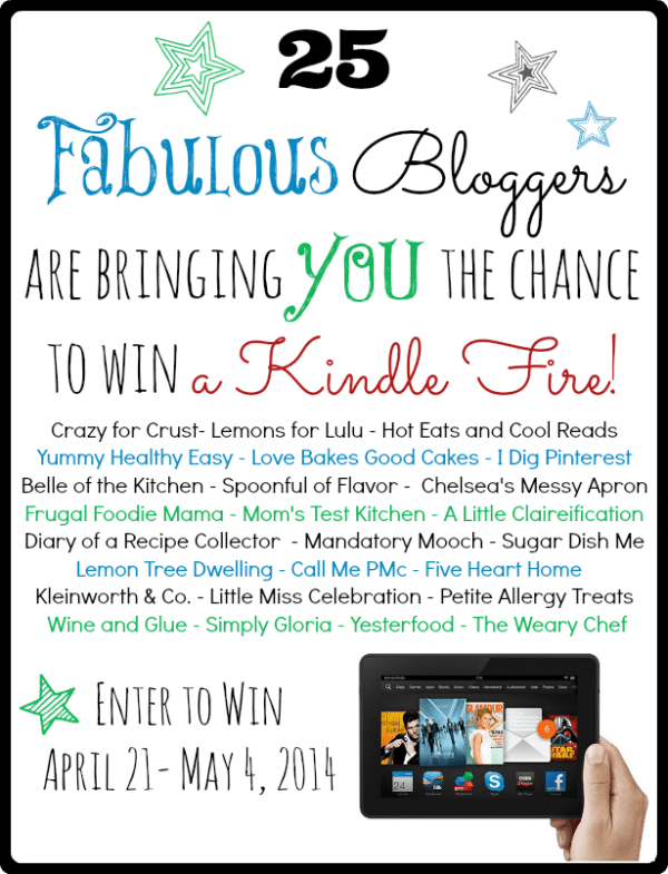 25 Food Blogs You Should Be Reading (plus a Kindle Fire Giveaway!)