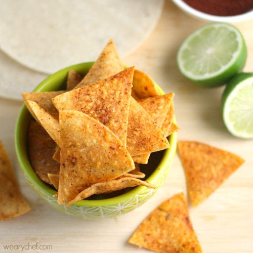Chili Lime Baked Chips - Born to Be Dipped!