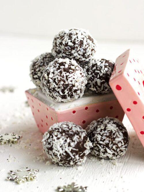 Almond Joy Avocado Truffles | Food Faith Fitness