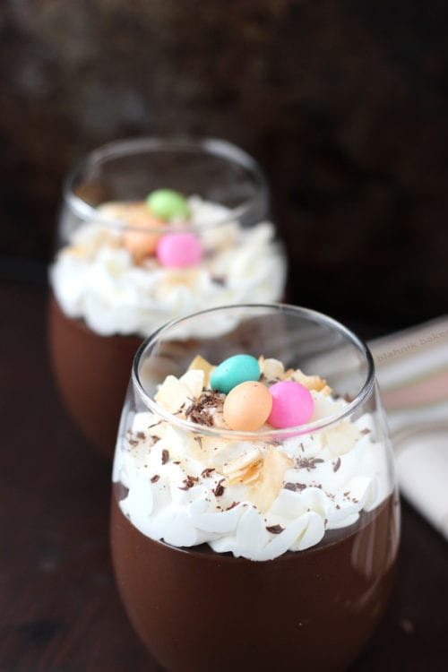 Dark Chocolate Coconut Pudding | Blahnik Baker