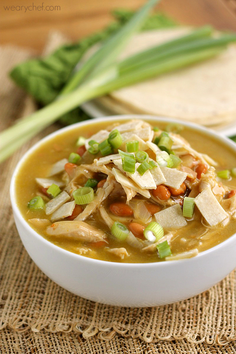 Green Chicken Enchilada Soup - The Weary Chef