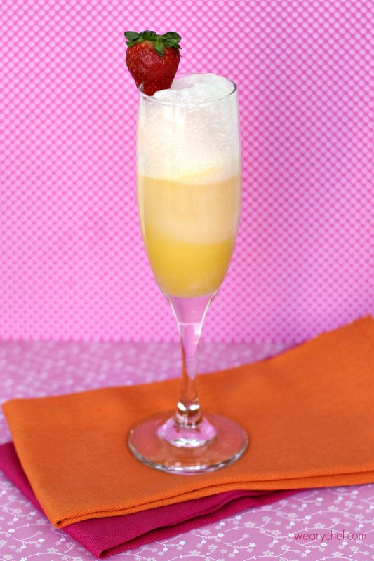 Momosas Mocktail Recipe - A tasty nonalcoholic spin on mimosas!