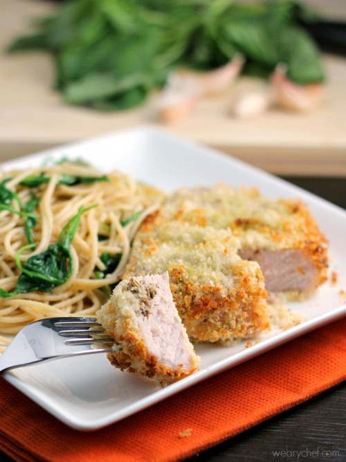 Pesto Stuffed Oven Baked Pork Chops