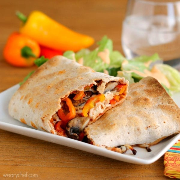Skinny Stromboli - All the taste of pizza in a healthy wrap! #pizza # ...