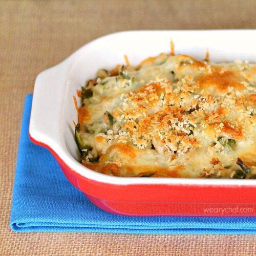 sausage green bean casserole1