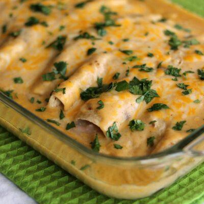 Creamy Crab and Shrimp Enchiladas From Scratch