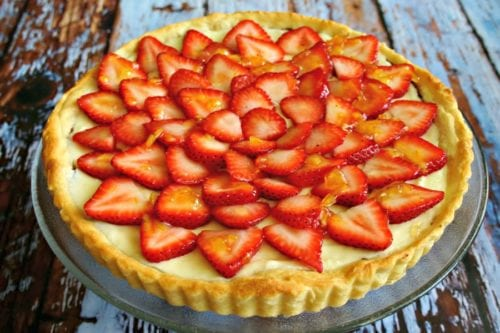 Strawberry Nutella Cream Tart by Live Love and Good Food