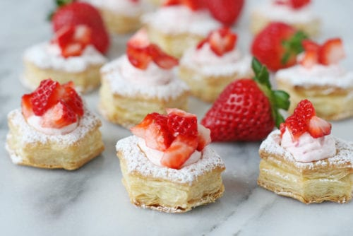 Strawberry Cream Puffs by Glorious Treats