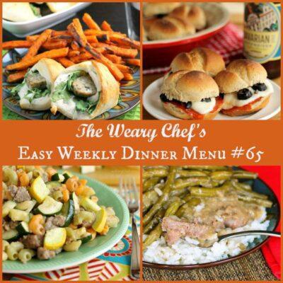 Easy Weekly Dinner Menu #65: Party time!