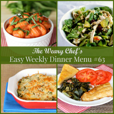 Easy Weekly Dinner Menu #63: Pizza, Salad, Gnocchi, and More!