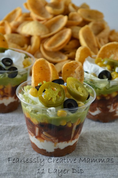 11 Layer Mexican Dip | Fearlessly Creative Mammas