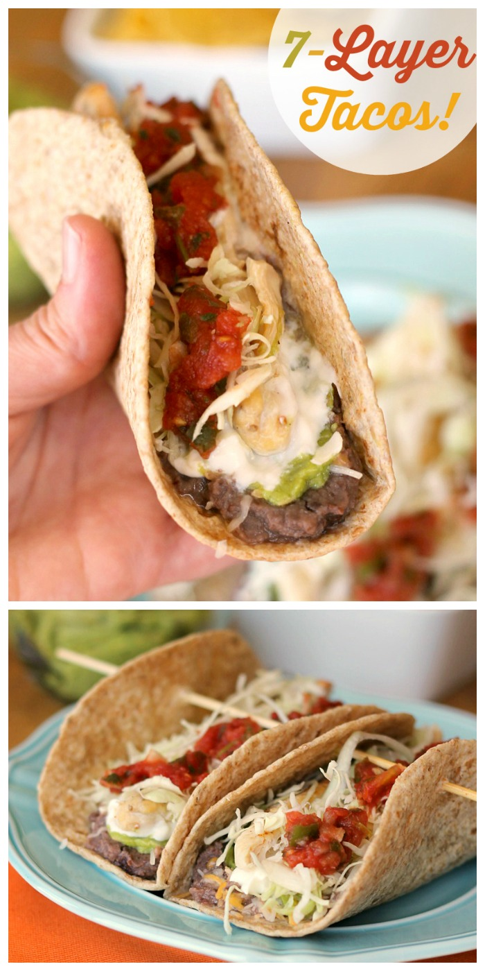 7-Layer Tacos: Your favorite dip turned dinner!