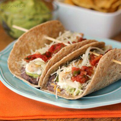 7 Layer Dip Tacos