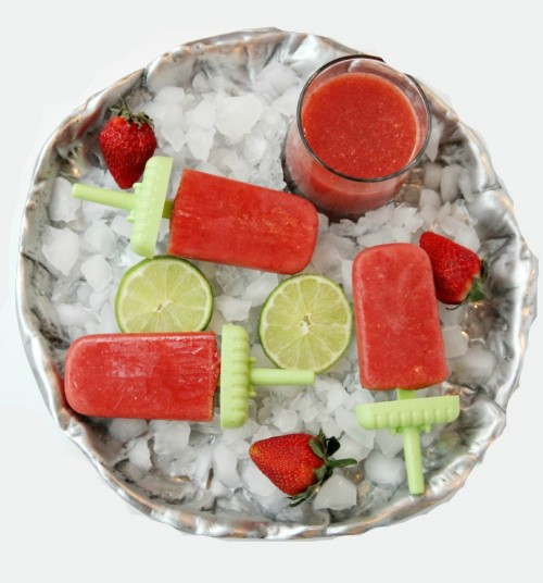 Strawberry Watermelon Agua Fresca Popsicles | Bitz & Giggles