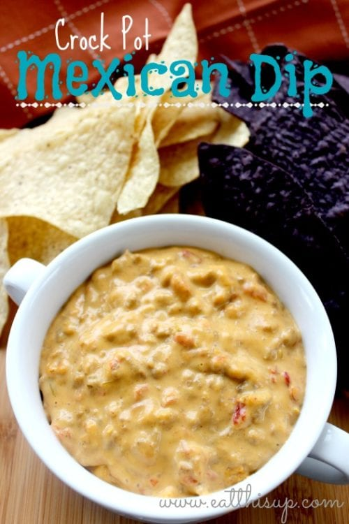 Crock Pot Mexican Cheese Dip | Eat This Up