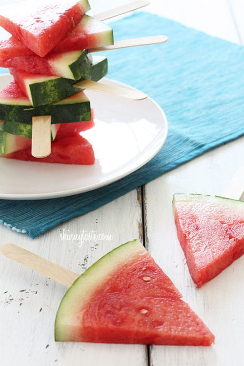 Fresh Watermelon on a Stick | Skinny Taste
