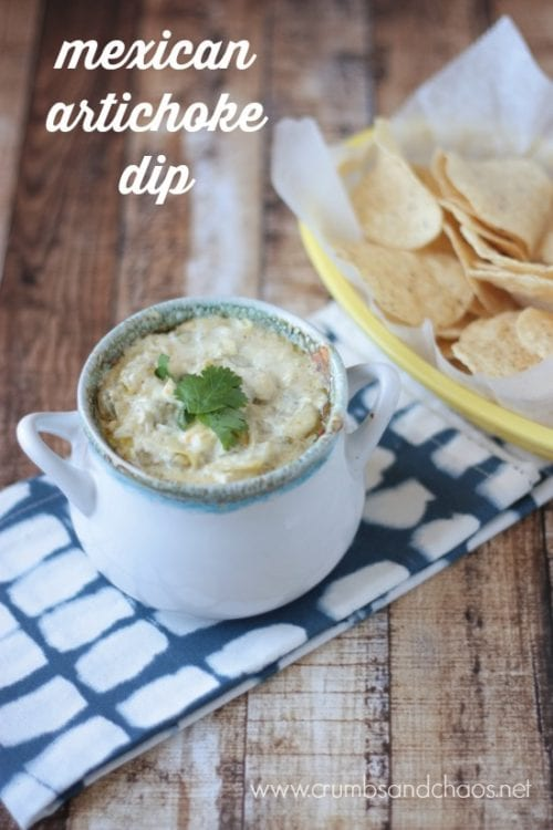 Mexican Artichoke Dip   Crumbs and Chaos