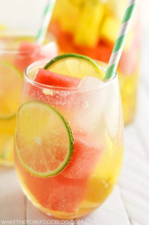 Watermelon Pineapple Sangria | What the Fork Food Blog