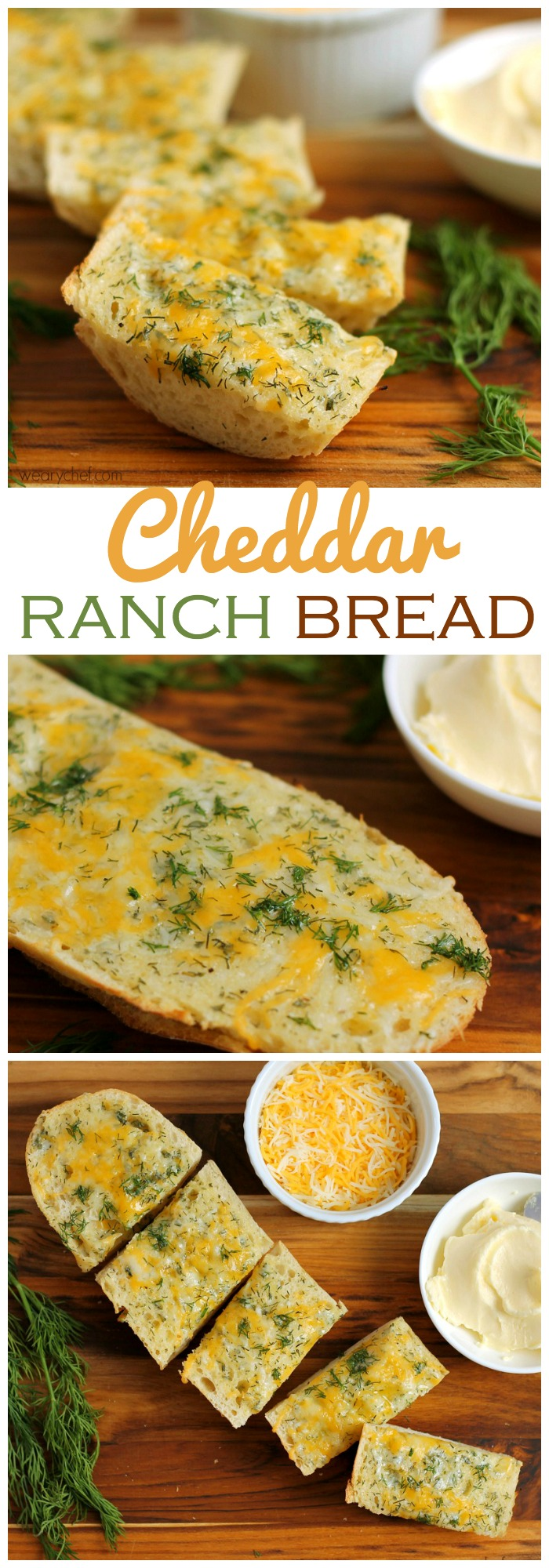 This tangy, cheesy bread is lighter than your typical garlic bread recipe!