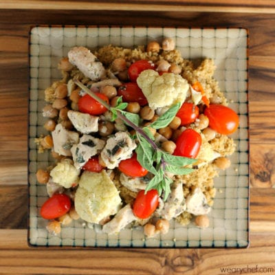 Healthy Chicken and Chickpea Baked Stir Fry