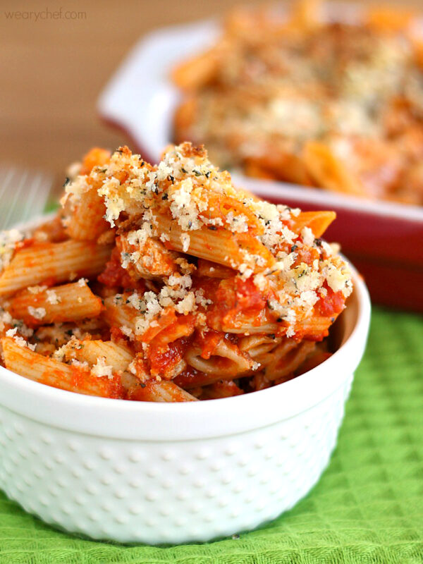 Chicken Parmesan Casserole Recipe The Weary Chef