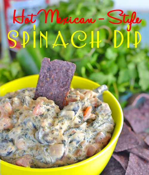 Hot Mexican Style Spinach Dip | Kitchen Meets Girl
