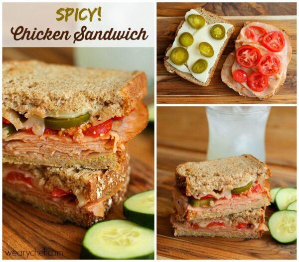 Spicy Chicken Sandwiches wearychef.com #DeliFreshBold