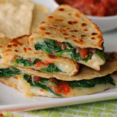 Spicy Spinach Quesadilla Recipe: A Quick Vegetarian Dinner!