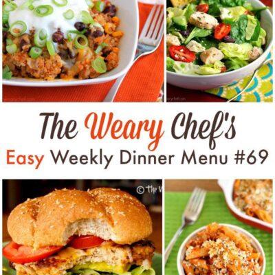 Easy Weekly Dinner Menu #69: Staying Cool