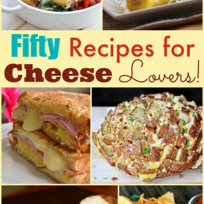 50 Recipes for Cheese Lovers! {Can't Miss Cheese Recipes}