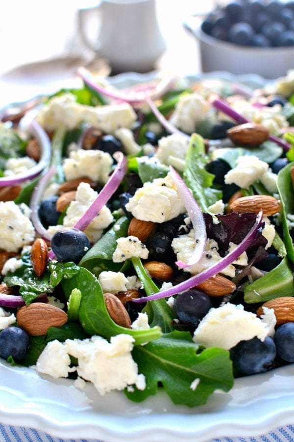 Blueberry Feta Salad by Lemon Tree Dwelling