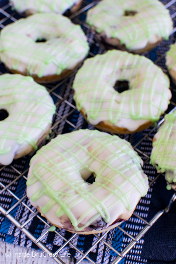 Blueberry Key Lime Donuts by Inside BruCrew Life
