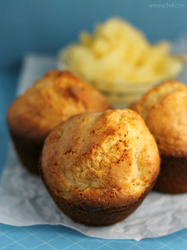 Easy Baking Mix Pineapple Muffins - Baking mix and sweetened condensed milk make this a super easy breakfast recipe!