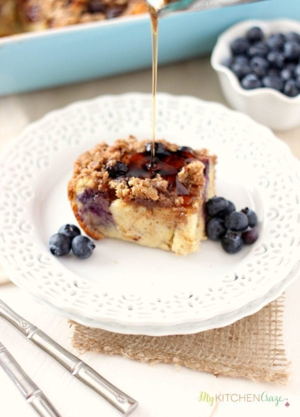 Blueberry Baked French Toast by My Kitchen Craze