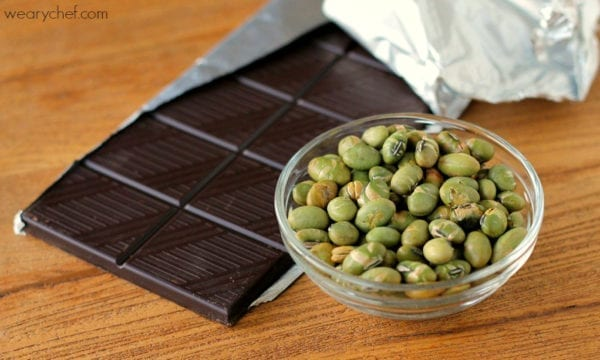 Chocolate Covered Dry Roasted Edamame {Trader Joe's Copycat!}