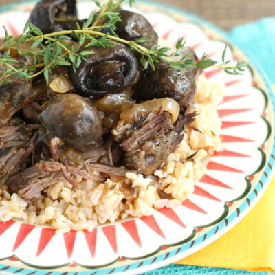 Slow Cooker Beef Roast with Rosemary and Thyme