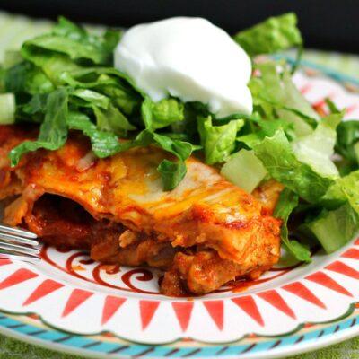 Chicken Fajita Enchilada Lasagna Recipe