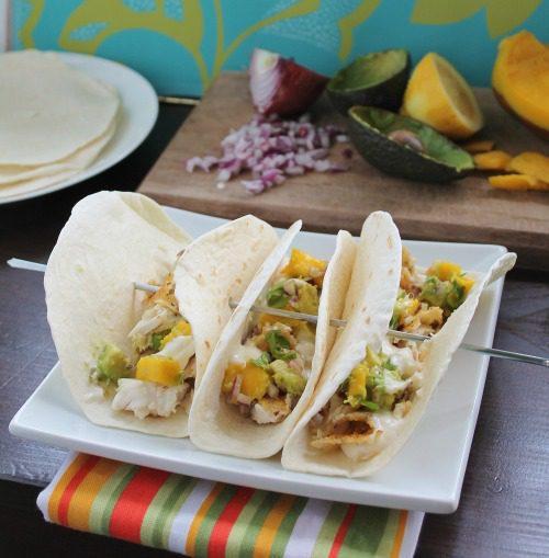 Fish Tacos with Avocado Mango Salsa | Hidden Ponies