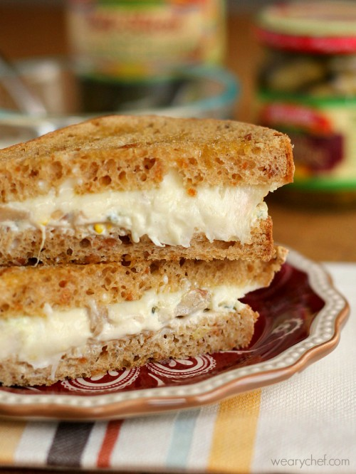 Jalapeño Artichoke Dip Grilled Cheese Sandwich #makethatsandwich