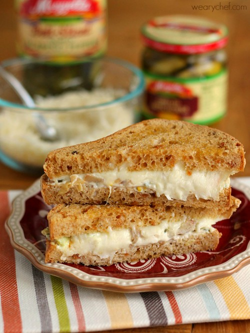 Jalapeño Artichoke Dip Grilled Cheese Sandwich #makethatsandwich