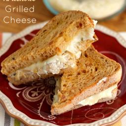Jalapeño Artichoke Dip Grilled Cheese Sandwich