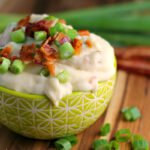 Loaded Mashed Potatoes with Cheese and Bacon
