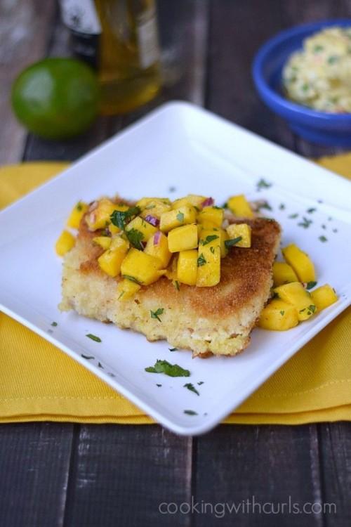 Mahi Mahi with Papaya Mango Salsa | Cooking with Curls