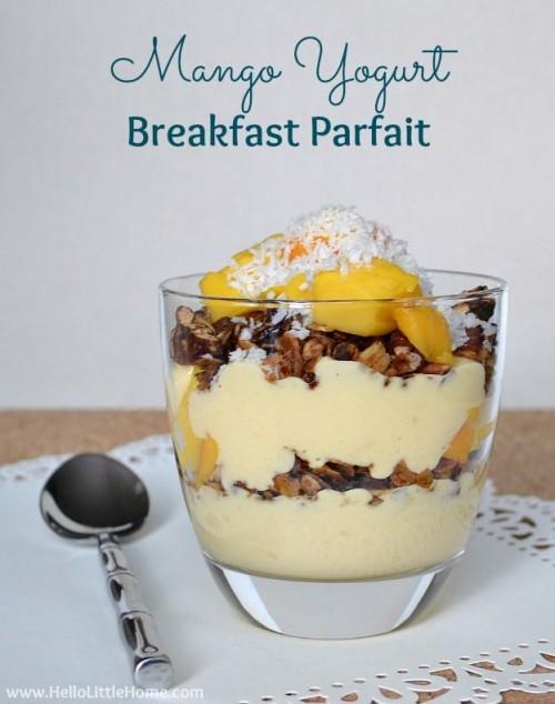 Mango Yogurt Breakfast Parfait | Hello Little Home