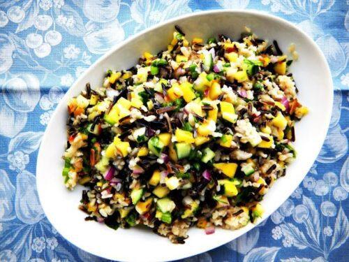 Mango Cucumber Rice Salad | Cherry on My Sundae