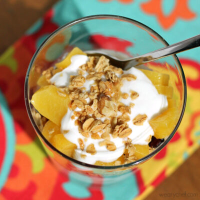 Peaches and Cream Yogurt Parfaits