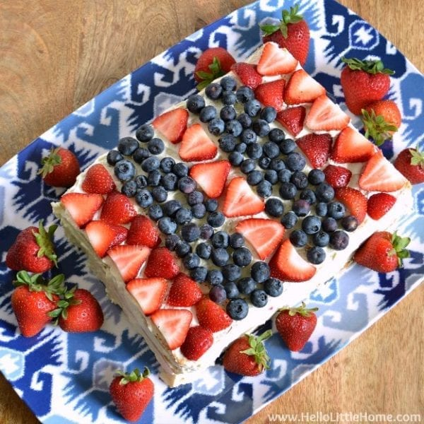 Red White and Blue Ice Box Cake by Hello Little Home