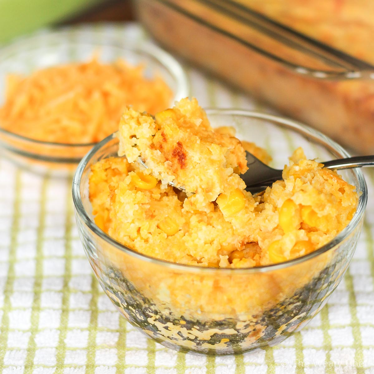 This old-fashioned Sweet Corn Pudding is a great holiday side dish, or pair it with pork or chicken any time of year!